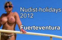 Nackte deutsche Hausfrau am Strand