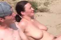 Amateur Paar zum Sex vor der Kamera überredet