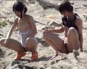 Am FKK Strand beim Pinkeln gefilmt