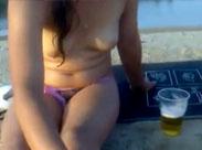 Besoffene Girls am FKK Strand gefilmt