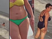 Sexy Omas und dicke Frauen am Strand