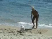 Nackt am Strand ist einfach geil