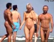 Nackt Spaziergang am Strand