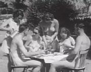 Nudisten Picknick 50er Jahre