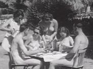 Vintage Nudisten Film von 1954